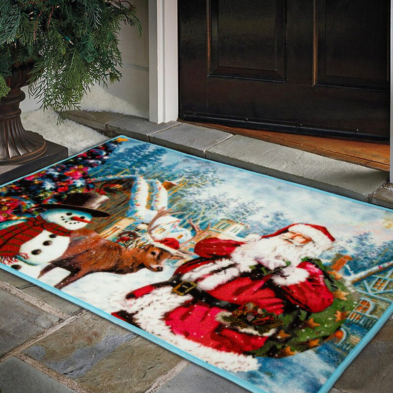 The Holiday Aisle Agata 36 X 24 Non Slip Indoor Door Mat Wayfair