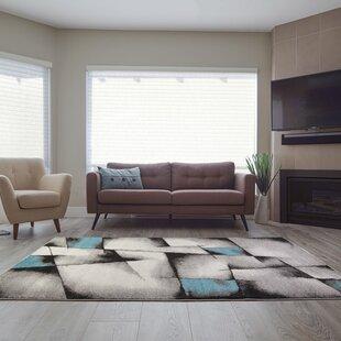 Crosland Black/Teal Area Rug byEbern Designs