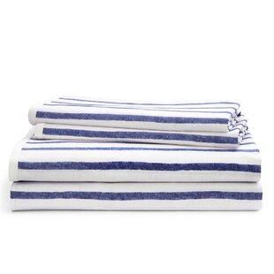 Jensen Stripe 200 Thread Count 100% Cotton Sheet Set ByLauren Ralph Lauren