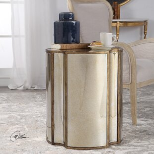 Marcy Mirrored End Table