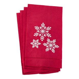 Boggs Snowflake Hand Towel (Set Of 4) by The Holiday Aisle Looking for