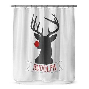 Rudolph 72 Single Shower Curtain by KAVKA DESIGNS