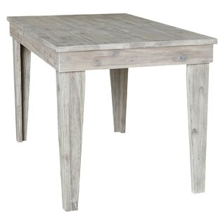 Galey Modern Rustic Solid Wood 30 x 48 Dining Table