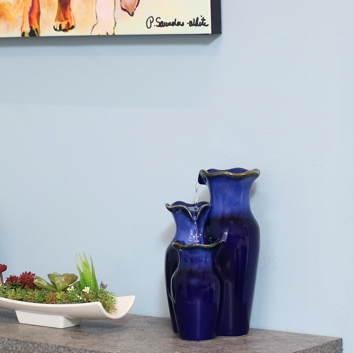 Ceramic Indoor Fountains You Ll Love In 2021 Wayfair