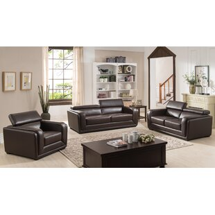 AC Pacific Calvin 3 Piece Living Room Set