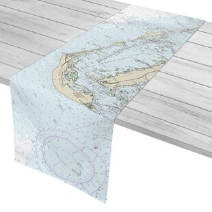Labonte Sanibel Island, FL Nautical Chart Table Runner