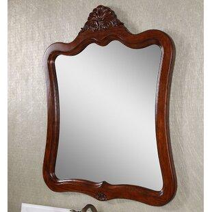 Astoria Grand Dark Brown Wood Wall Mirror