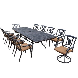 Oakland Living Victoria 11 Piece Dining Set with Cushions
