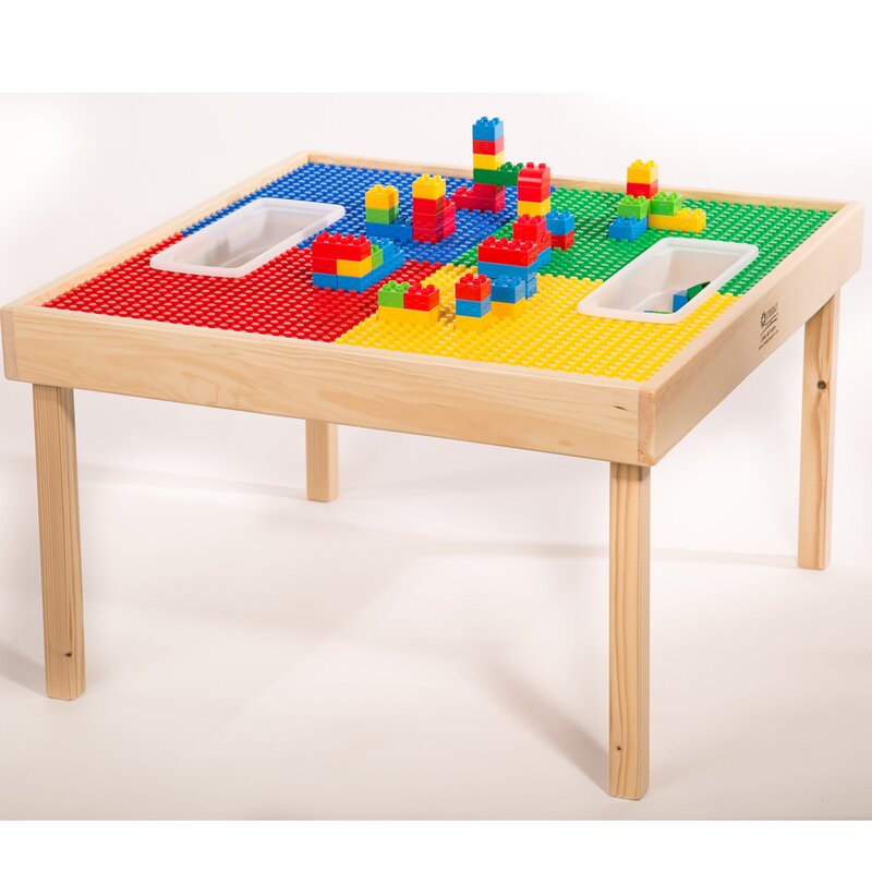Zoomie Kids Fabiola Multi Activity Kids Square Lego Table Wayfair