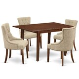 Saragossa 5 Piece Extendable Solid Wood Dining Set by Winston Porter