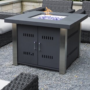 Pleasant Hearth Montreal Stainless Steel Propane Fire Pit Table
