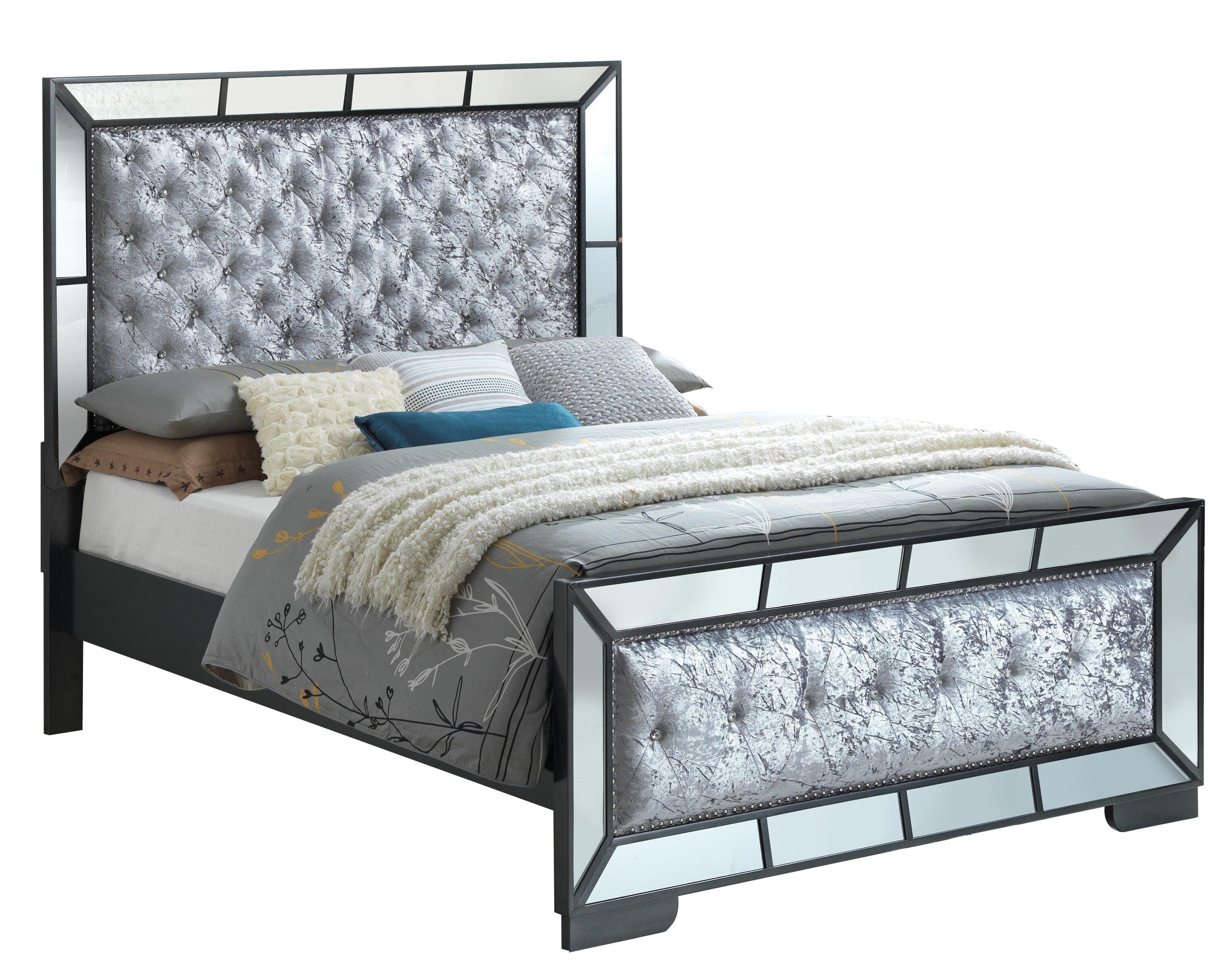 Wayfair Upholstered Panel Bed: Everly Quinn Jemma Full/Double Upholstered Panel Bed