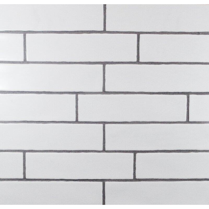 Mulia Tile Hills Wavy Edge 3 Quot X 12 Quot Subway Tile In Matte