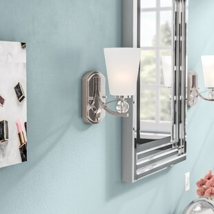 Read Reviews Gace 1-Light Bath Sconce By Willa Arlo Interiors