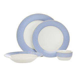 Gustav 16 Piece Dinnerware Set, Service for 4