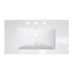 Online Reviews Flair Ceramic 37 Single Bathroom Vanity Top By American Imaginations