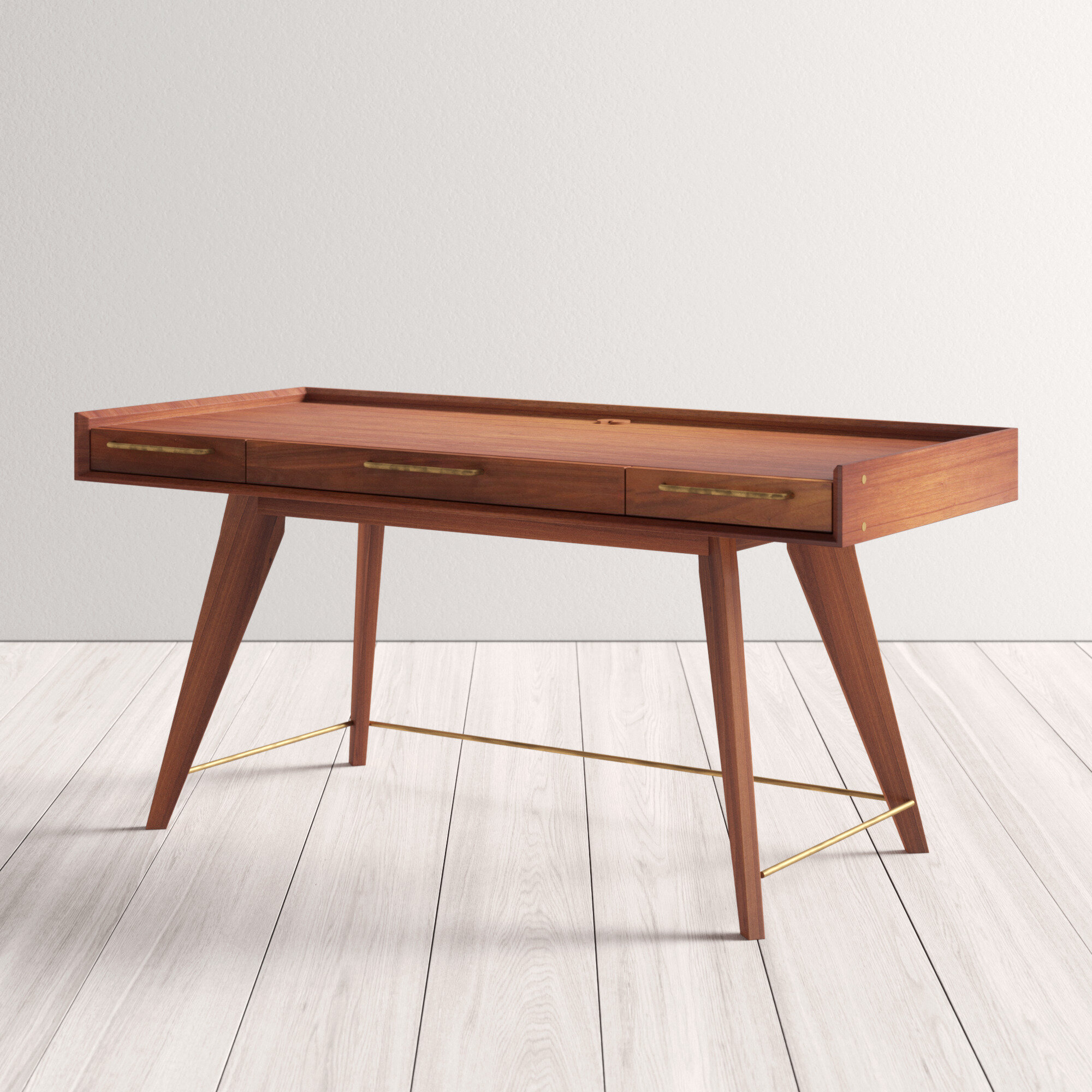 Image of: Moffitt Solid Wood Writing Desk Allmodern