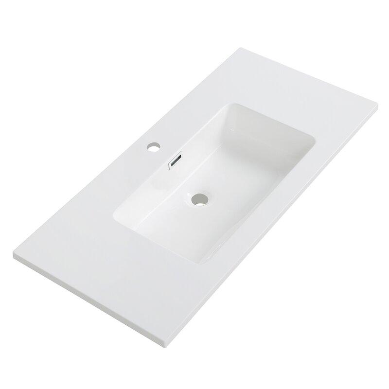 Streamlinebath Solid Surface Resin 39 Single Bathroom Vanity Top Wayfair