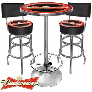 Budweiser 3 Piece Pub Table Set Trademark Global