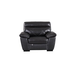 Alidade Leather Armchair by Winston Porter