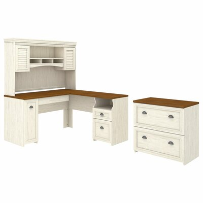Oakridge 2 Piece Office Set with Hutch by Beachcrest Home