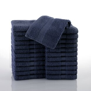 Commercial 100% Cotton Washcloth (Set of 24) By Martex