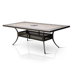 Springfield Stone/Concrete Dining Table by Canora Grey