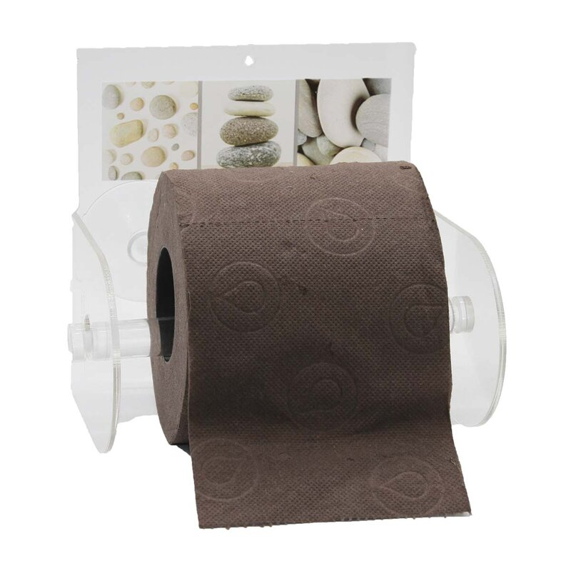 Toilet Roll Tissue Holder Stand Paper Storage Dispensers Wall Mounted Brown