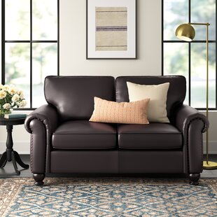 Wondrous Bella Vista Leather Loveseat Customarchery Wood Chair Design Ideas Customarcherynet