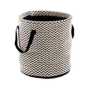 Compare prices Alsace Zig Zag Hand-Woven Fabric Basket By Bungalow Rose