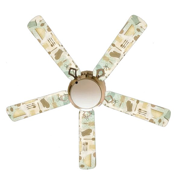 Winston Porter 52 Godmanchester 5 Blade Flush Mount Ceiling Fan With Pull Chain And Light Kit Included Wayfair