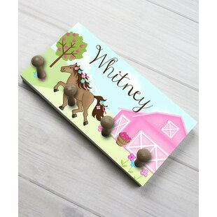 Horse Barnyard Personalized Wall Mounted Coat Rack by Toad and Lily