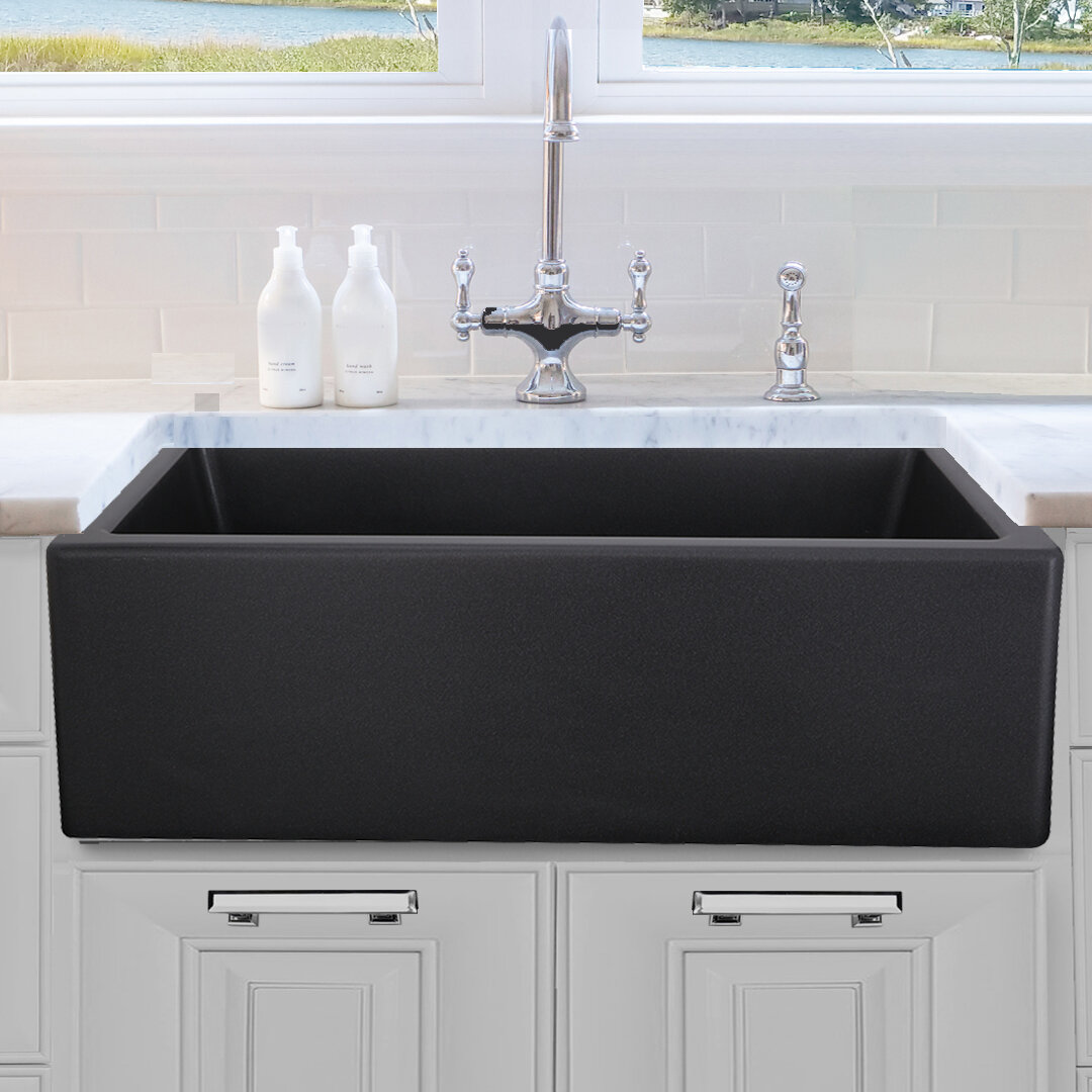 Picture of: Black Farmhouse Apron Kitchen Sinks You Ll Love In 2020 Wayfair