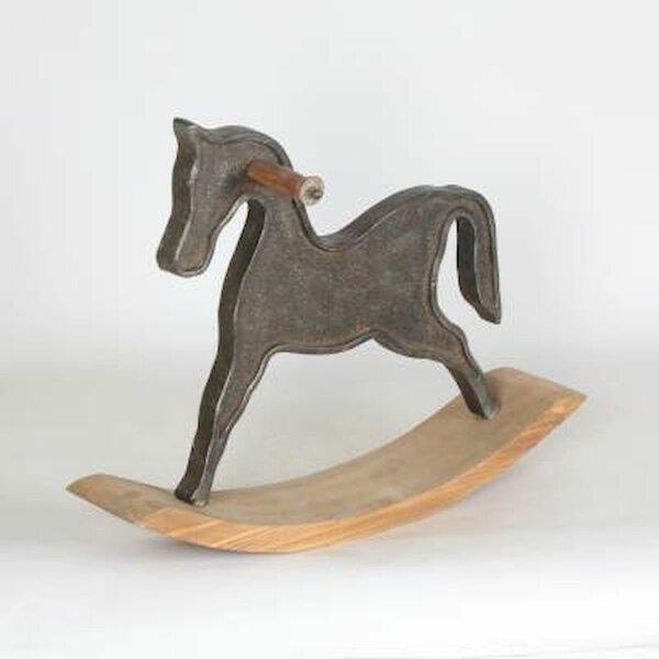 Canora Grey Fowey Rocking Horse Sculpture Wayfair