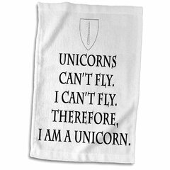 15 x 22 3D Rose Play with Fairies Ride A Unicorn Swim with Mermaids Fly to The Moon Hand Towel
