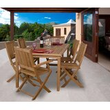 Kenzie International Home Outdoor 7 Piece Teak Dining Set