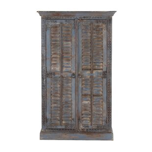 Cole & Grey 2 Door Wood Armoire Accent Cabinet