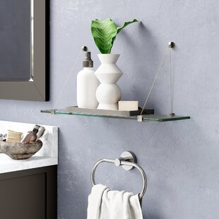 Floating Glass Wall Shelf