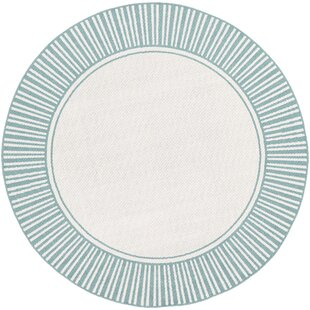 Online Reviews Oliver Teal Indoor/Outdoor Area Rug By Bay Isle Home