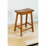 Aalyah Solid Wood 24 Counter Stool by Red Barrel Studio®