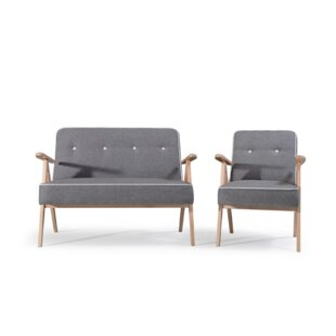 Midcentury 2 Piece Sofa Set By Selsey Living