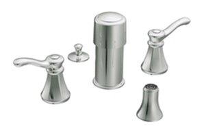 Moen Vestige Double Handle Vertical Spray Bidet Faucet Trim Kit