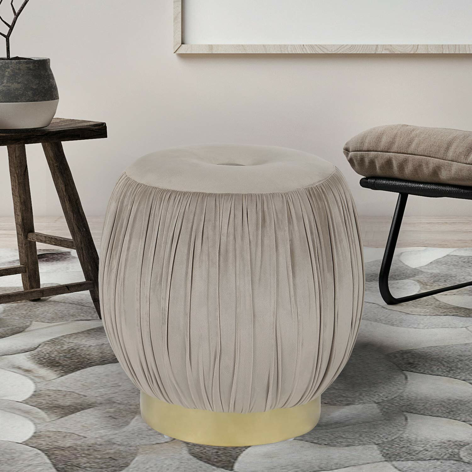 Strange Waterville Round Ottoman Ncnpc Chair Design For Home Ncnpcorg