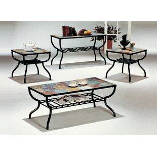 Loon Peak Hull 3 Piece Coffee Table Set