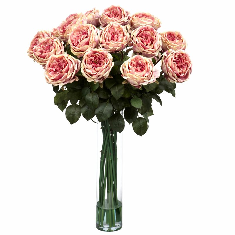 Nearly natural fancy rose silk floral arrangements in pink reviews fancy rose silk floral arrangements in pink mightylinksfo