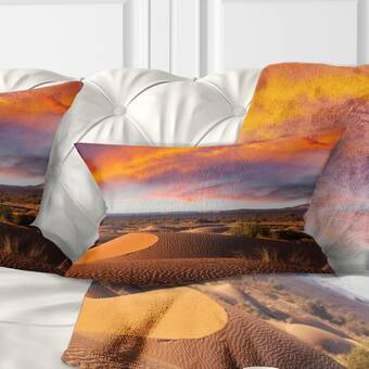 Bungalow Rose Bilboro Print Bohemian Throw Pillow Cover