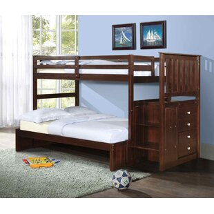 Inexpensive Solar Twin over Full Bunk Bed with Storage by Harriet Bee Reviews (2019) & Buyer's Guide