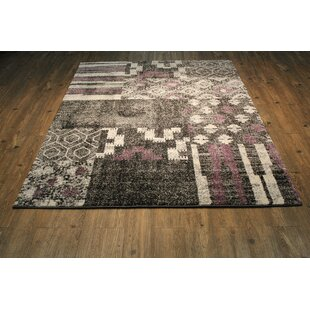 Great Price Alomar Black Area Rug By Bungalow Rose