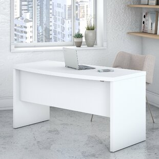 Kathy Ireland Office by Bush Echo Bow Front 2 Piece Desk Office Suite