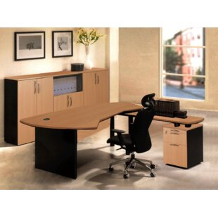 Executive Management 5 Piece L-Shaped Desk Office Suite by OfisELITE Reviews